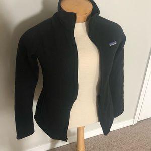 Black better sweater Patagonia jacket size M